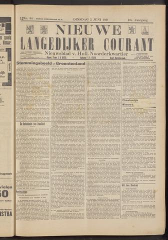 Nieuwe Langedijker Courant 1931-06-02