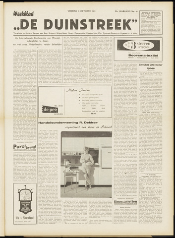 De Duinstreek 1963-10-11