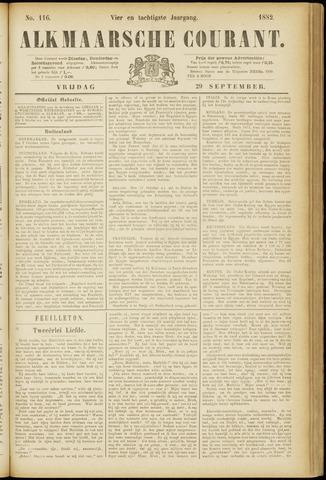 Alkmaarsche Courant 1882-09-29