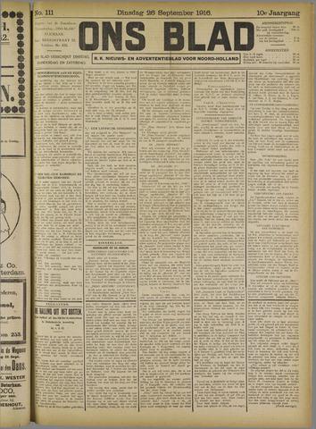 Ons Blad : katholiek nieuwsblad voor N-H 1916-09-26