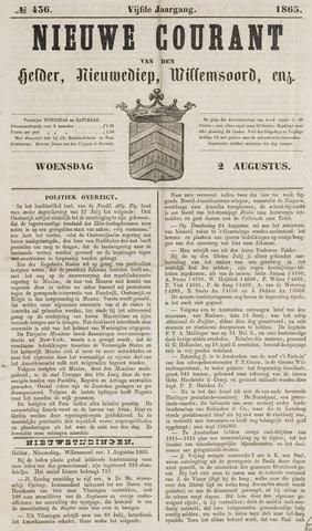 Nieuwe Courant van Den Helder 1865-08-02