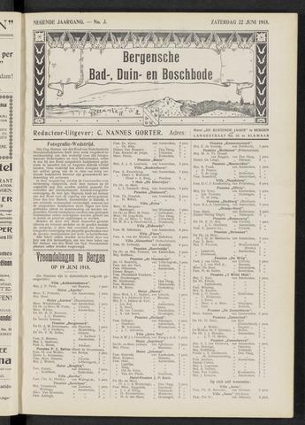 Bergensche bad-, duin- en boschbode 1918-06-22