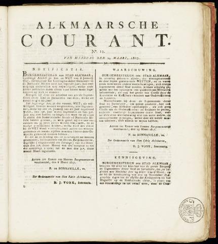 Alkmaarsche Courant 1817-03-24
