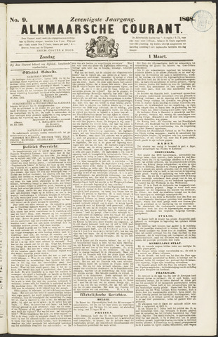 Alkmaarsche Courant 1868-03-01