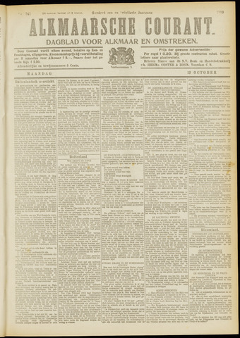 Alkmaarsche Courant 1919-10-13
