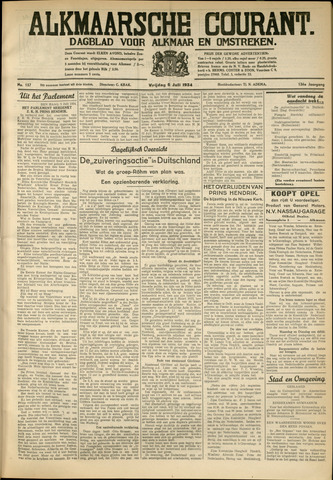 Alkmaarsche Courant 1934-07-06