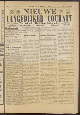 Nieuwe Langedijker Courant 1932-01-26