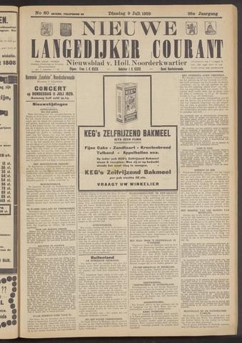 Nieuwe Langedijker Courant 1929-07-09