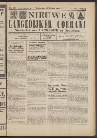 Nieuwe Langedijker Courant 1925-10-29