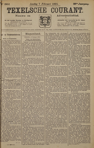 Texelsche Courant 1915-02-07