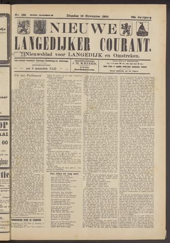 Nieuwe Langedijker Courant 1924-11-18