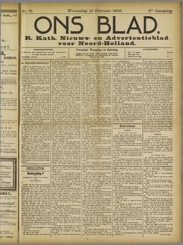 Ons Blad : katholiek nieuwsblad voor N-H 1908-02-19