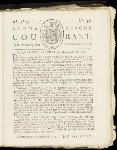 Alkmaarsche Courant 1809-08-28