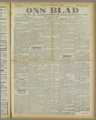 Ons Blad : katholiek nieuwsblad voor N-H 1919-11-04