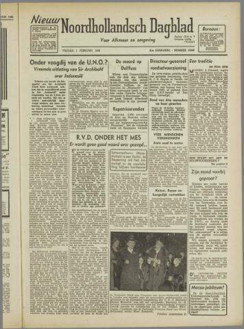 Nieuw Noordhollandsch Dagblad : voor Alkmaar en omgeving 1946-02-01