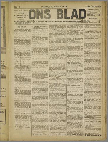 Ons Blad : katholiek nieuwsblad voor N-H 1918-01-08