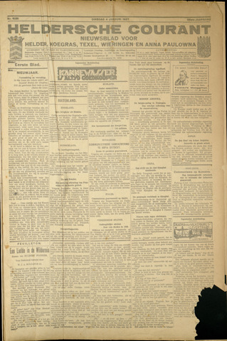 Heldersche Courant 1927-01-04
