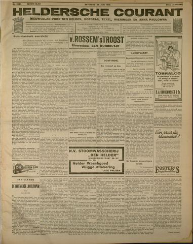Heldersche Courant 1931-06-27