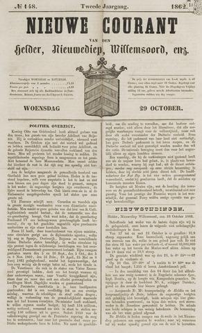 Nieuwe Courant van Den Helder 1862-10-29