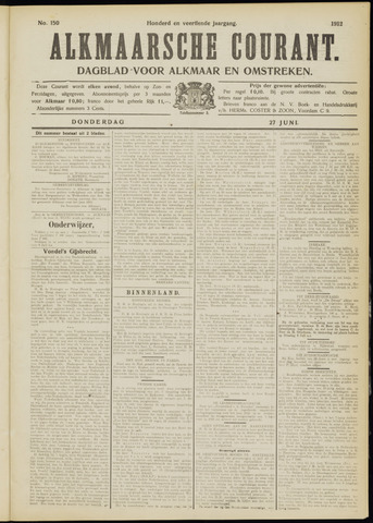 Alkmaarsche Courant 1912-06-27