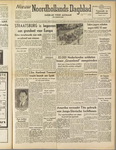 Nieuw Noordhollandsch Dagblad : voor Alkmaar en omgeving 1952-09-16