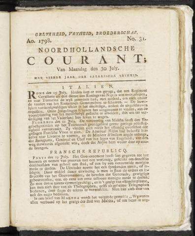 Noordhollandsche Courant 1798-07-30