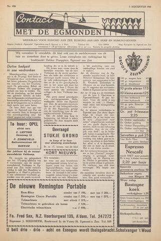 Contact met de Egmonden 1961-08-03