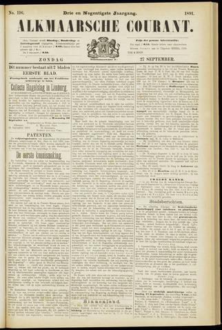 Alkmaarsche Courant 1891-09-27