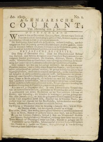 Alkmaarsche Courant 1803-01-03