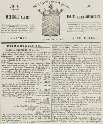 Weekblad van Den Helder en het Nieuwediep 1857-08-17