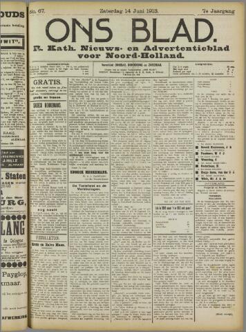 Ons Blad : katholiek nieuwsblad voor N-H 1913-06-14