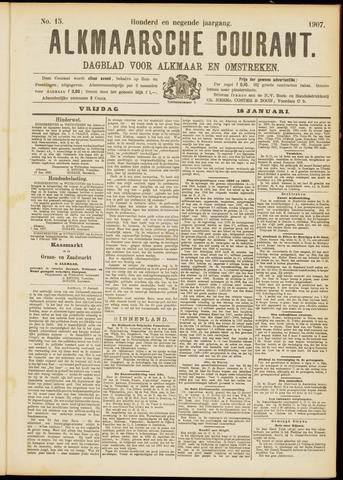 Alkmaarsche Courant 1907-01-18