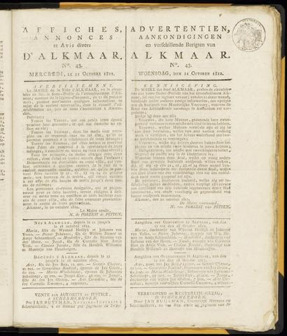 Alkmaarsche Courant 1812-10-21