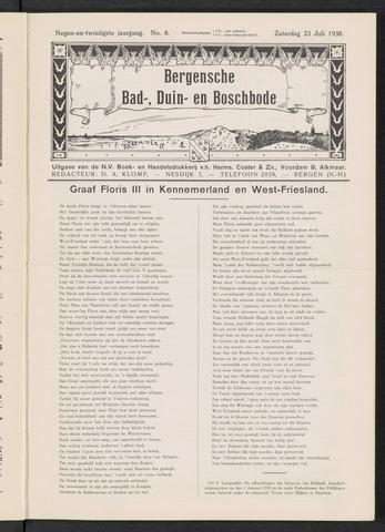 Bergensche bad-, duin- en boschbode 1938-07-23