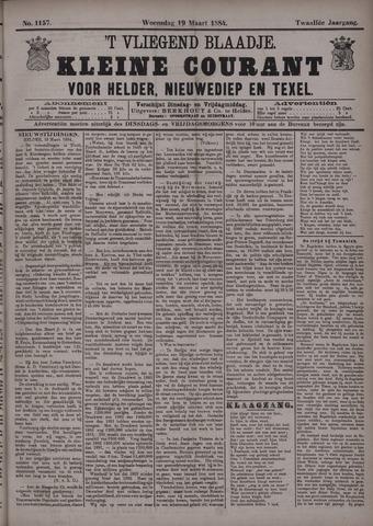 Vliegend blaadje : nieuws- en advertentiebode voor Den Helder 1884-03-19