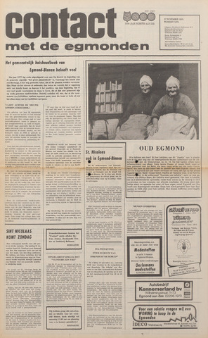 Contact met de Egmonden 1976-11-17