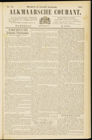 Alkmaarsche Courant 1905-06-21