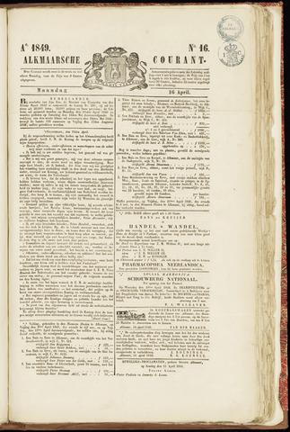 Alkmaarsche Courant 1849-04-16