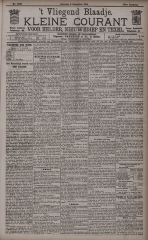 Vliegend blaadje : nieuws- en advertentiebode voor Den Helder 1894-09-08