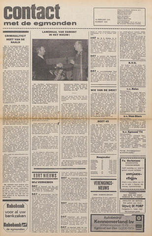Contact met de Egmonden 1976-02-18