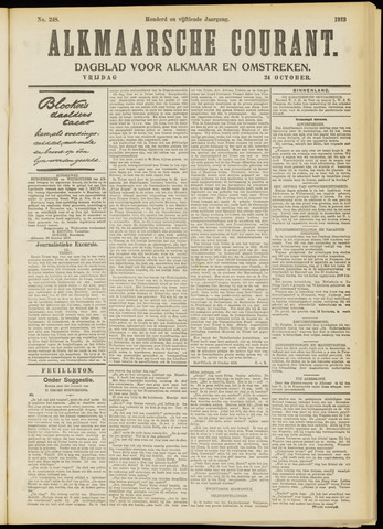 Alkmaarsche Courant 1913-10-24