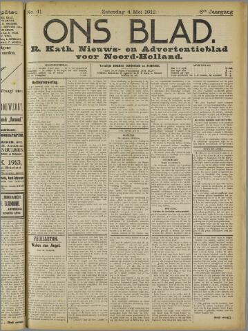 Ons Blad : katholiek nieuwsblad voor N-H 1913-05-04