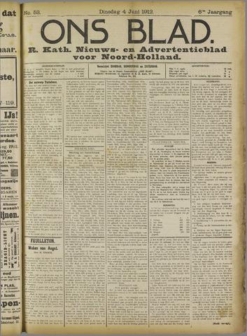 Ons Blad : katholiek nieuwsblad voor N-H 1912-06-04