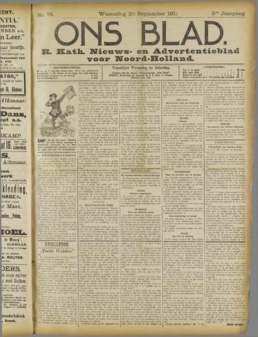 Ons Blad : katholiek nieuwsblad voor N-H 1911-09-20