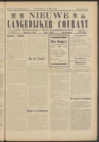Nieuwe Langedijker Courant 1933-05-13