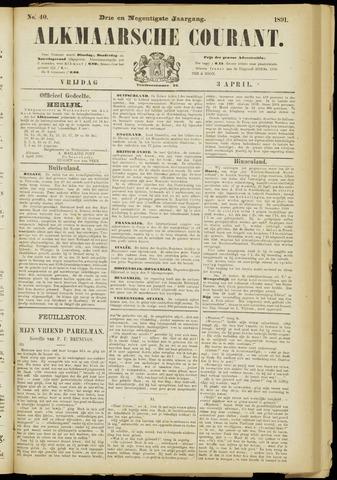Alkmaarsche Courant 1891-04-03