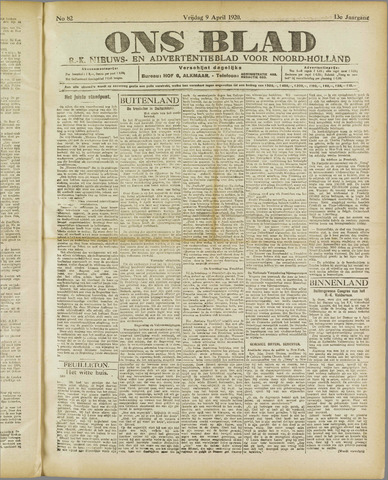 Ons Blad : katholiek nieuwsblad voor N-H 1920-04-09