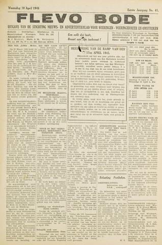 Flevo-bode: nieuwsblad voor Wieringen-Wieringermeer 1946-04-10