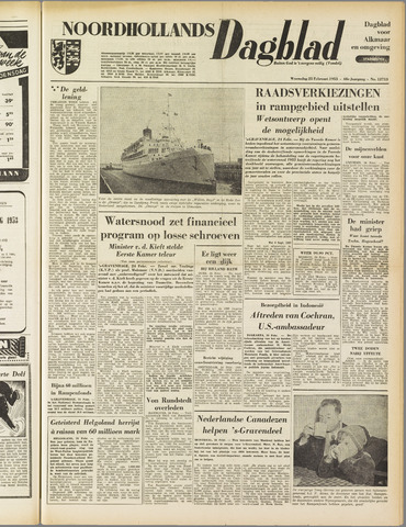 Noordhollands Dagblad : dagblad voor Alkmaar en omgeving 1953-02-25