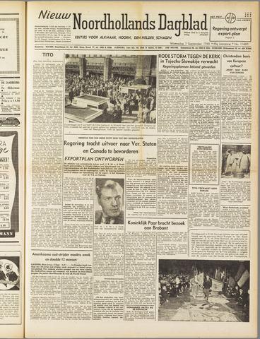 Nieuw Noordhollandsch Dagblad : voor Alkmaar en omgeving 1949-09-07